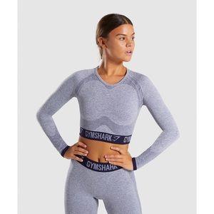 Gymshark Flex Long Sleeve Crop Top, S